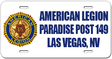 Paradise Post 149 License Plate